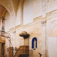 Le mur nord de la nef vu vers le nord-ouest (2002)