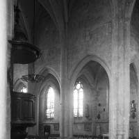 L'élévation nord de la nef vue vers le nord-ouest (1997)