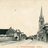 La rue principale et l église en 1906