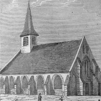 L'ancienne église au 19ème siècle