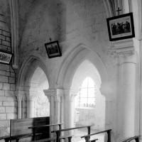 Le mur gouttereau nord de la première travée de la nef vue vers le nord-ouest (1994)