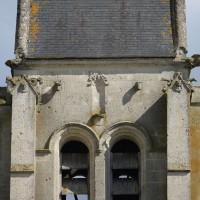 Vue partielle de l'étage du beffroi du clocher depuis le sud (2016)