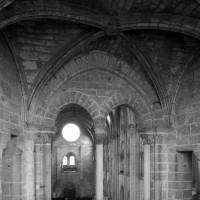 Vue partielle de la chapelle haute du choeur vers l'ouest