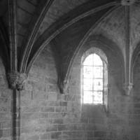 Vue partielle de la chapelle haute du choeur vers le nord-est