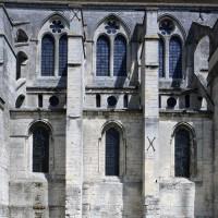 Elévation sud de trois travées de la nef (2017)
