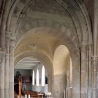 Vue partielle du choeur et de la travée du clocher vers le nord-ouest