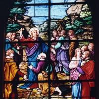 Vitrail de saint Pierre recevant les clefs du Ciel (2003)
