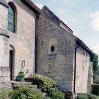 Vue partielle du mur sud de la nef et de la chapelle sud vus du sud-ouest (2008)