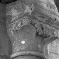 Chapiteau des arcades du mur gouttereau nord de la nef (1995)