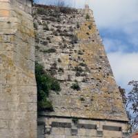 La toiture en pierre du bras nord du transept vue de l'est (2017)