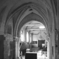 La travée du clocher et la nef vues vers l'ouest (1994)