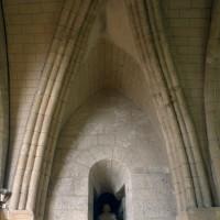 La voûte de la travée du clocher vue vers le nord (1994)