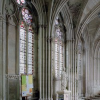 Le mur nord du passage vers la chapelle de la Vierge vu vers le nord-est (2003)