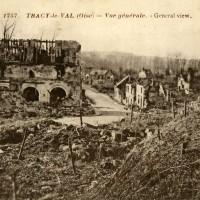 L'église et le village en 1918