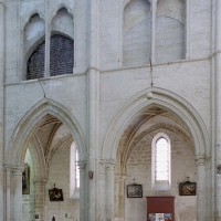 Elévation partielle d'une travée sud de la nef (2008)