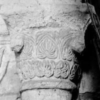 Chapiteau associé à la dernière arcade sud de la nef (1970)