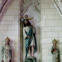 Statues de saint Nicolas, de saint Christophe et d'un évêque (2008)