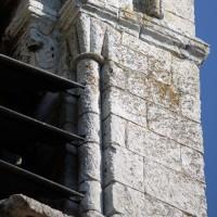 Chapiteau à godrons du clocher (2015)