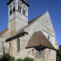 Le choeur et le clocher vus du sud-est (2015)