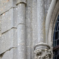 Détails d'une fenêtre du mur est du choeur (2015)