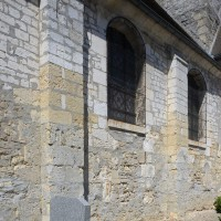 Contreforts plats au mur sud de la nef (2016)