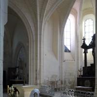 Vue partielle du bras nord du transept et du choeur vers le nord-est (2019)