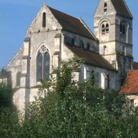 Le choeur et le clocher vus du nord-est (1995)