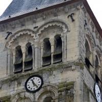 Le second étage du clocher vu du nord-est (2016)