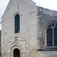 La façade de l'église vue du sud-ouest (2016)