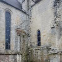 L'emplacement de la chapelle disparue à l'angle nord-est du choeur/transept (2016)