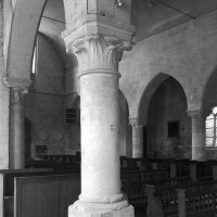 Vue partielle de la nef vers le nord-ouest depuis le bas-côté sud (2000)