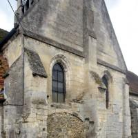 La chapelle de la fin du 12ème siècle vue du nord-est (2015)