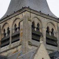 L'étage du beffroi du clocher vu depuis le nord-est (2017)