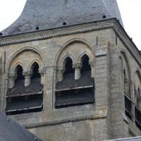 L'étage du beffroi du clocher vu depuis le sud-ouest (2017)