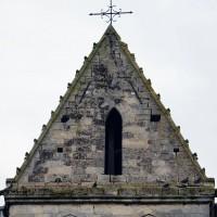 Le toit en batière du clocher vu du nord (2017)