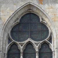 Détails de la fenêtre centrale du chevet (2015)