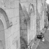Le mur gouttereau nord de la nef vu vers l'ouest (1969)