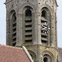 Le second étage du clocher vu du sud-ouest (2015)