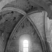 La voûte du bras nord du transept vue vers le nord (1995)