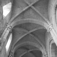 Les voûtes de la nef vues vers l'est (1995)