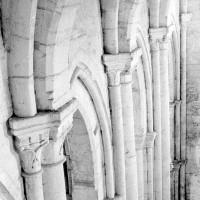 Le mur gouttereau sud de la nef vu depuis l'intérieur du clocher (1969)