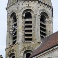 Vue partielle du clocher depuis le sud-est (2015)