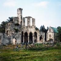 Les ruines de l'abbaye vues du sud-ouest (1995)