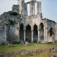 Les ruines du bras nord du transept (1995)