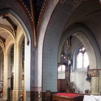 Vue partielle de la travée du clocher et du bas-côté sud vers le nord-ouest (2000)