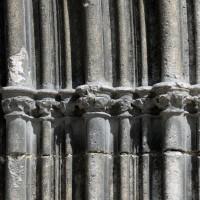 Les chapiteaux des piédroits de droite du portail ouest (2017)
