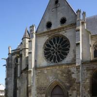 Le bras nord du transept vu du nord-ouest (2017)