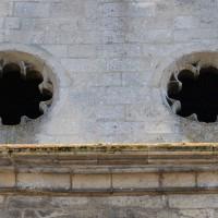 Les oculi du mur pignon de la façade nord du transept (2017)
