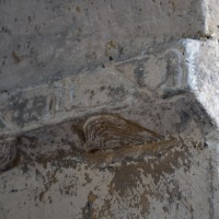 Tailloir à décor géométrique d'une pile de la nef (2017)