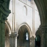 L'élévation nord de la nef vue vers le nord-est (1997)